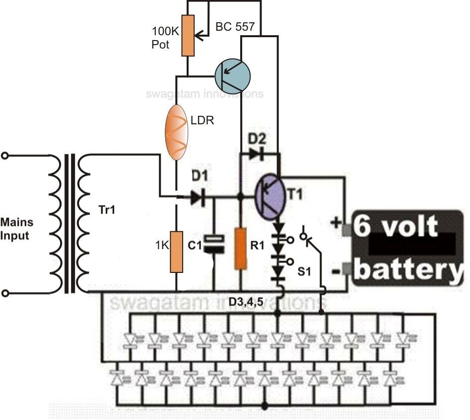 Mini Led Emergency Light Circuit Http Scartclubus Pinterest Lights In Series Or Parallel Diagram Further