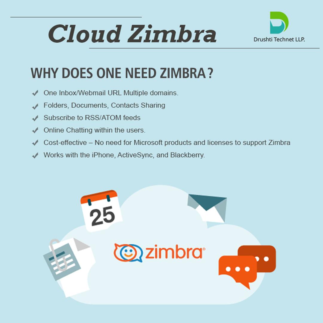 Drushti Technet Llp Offers Cloud Zimbra Email Services That