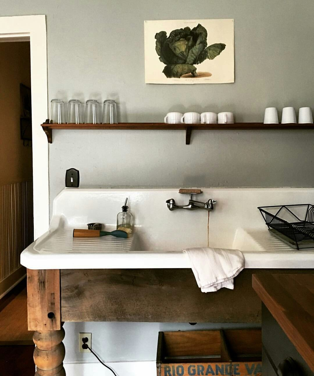 New stand for great old sink with draining boards | Claw ...
