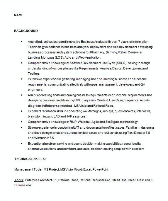 business analyst sample resume , Analyst Resume Examples , In