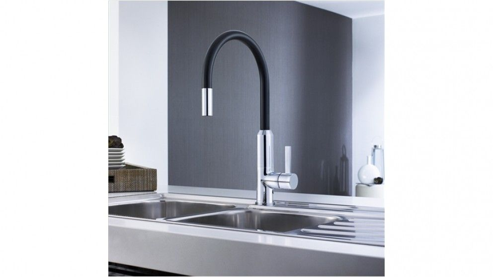 Caroma Vixen Black Pull Down Kitchen Mixer - Taps - Sinks & Taps ...