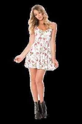 Black Milk Gorgeous Garden Reversible Skater Dress L LT Large Long Torso BNWT