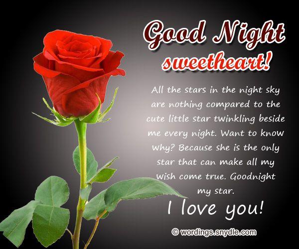 Good messages night romantic very 100+ Best