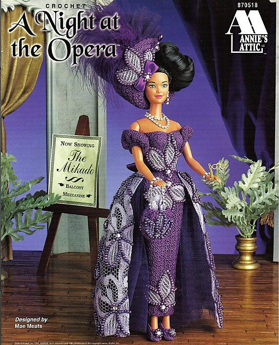 A Night at the Opera Fashion Doll Crochet Pattern Annies Attic ...