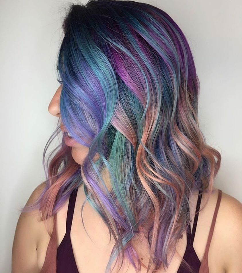Beauty fantasy unicorn purple violet red cherry pink yellow bright