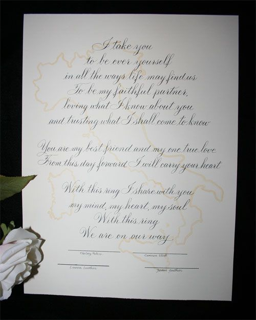 Simple But Sweet Wedding Vows Blessings For A Solemn Promise Of