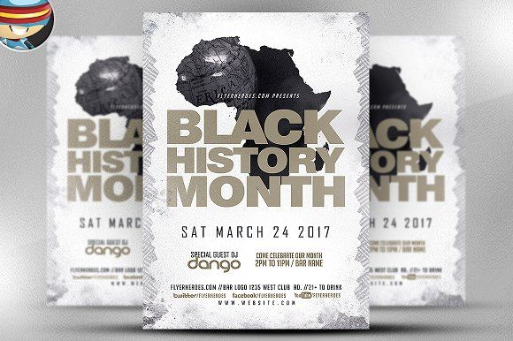 Black History Month Flyer Template Flyer Template And Black
