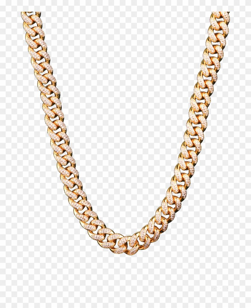 Download Hd Iced Out Chain Png Gold Cuban Chain Transparent Clipart And Use The Free Clipart For Your Creative Project In 2021 Cuban Chain Chain Free Clip Art