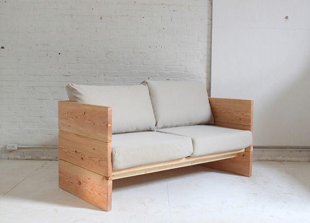 Como hacer un simple sillon de madera diy sofa homemade for Sillones de madera