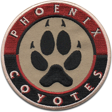 Phoenix Coyotes Sports Logo Patch Patches Collect Collection Sports Emblem Emblems Insig National Hockey League Patch Collecting Patch Logo