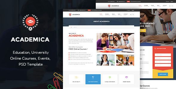 Download Free Academica - Educational HTML Theme # courses ...