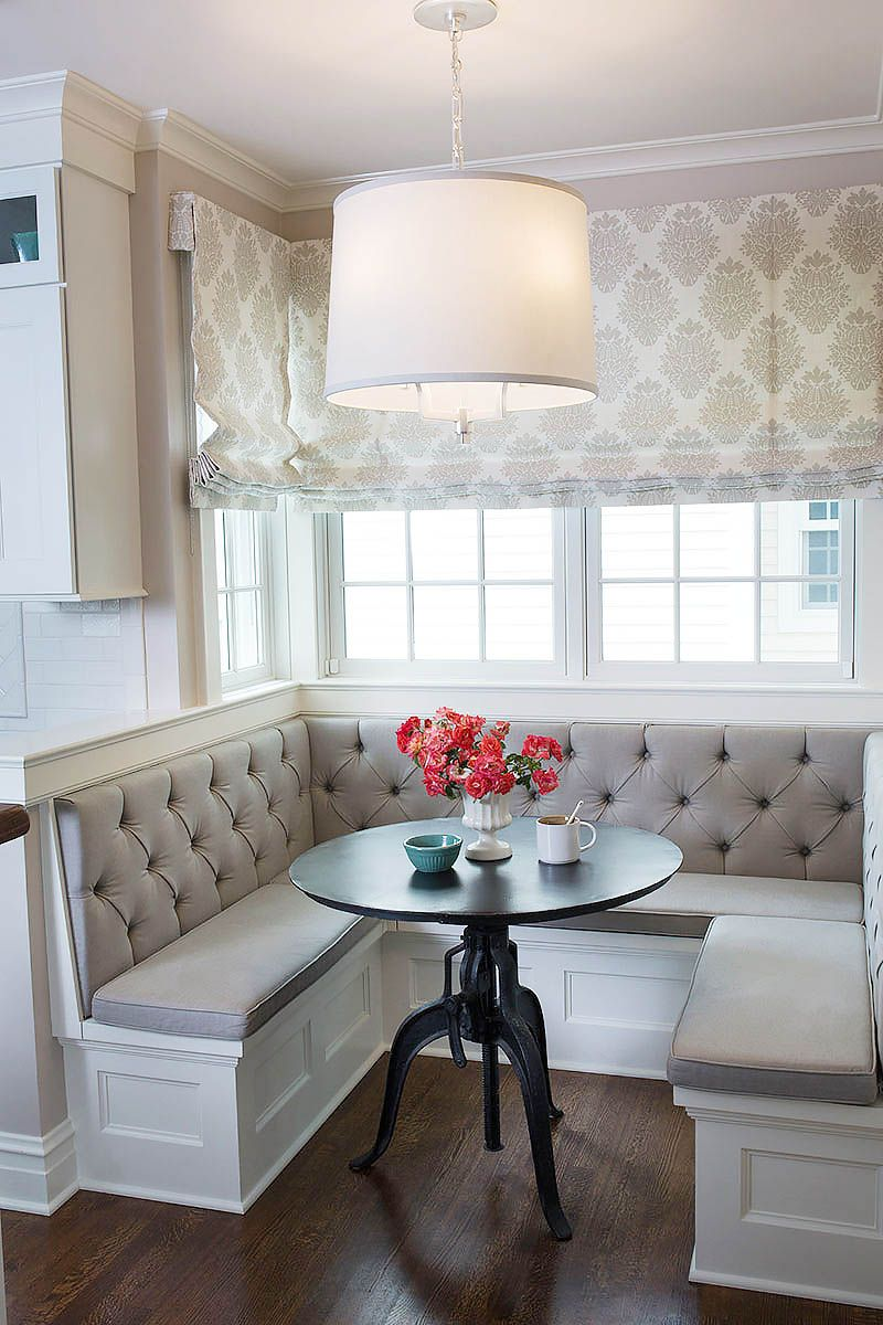 Traditional Classic Comfortable The Remodel And Addition To This 1920s Historical Residence Was A Labor Of Love Dining Nook Kitchen Seating Kitchen Banquette