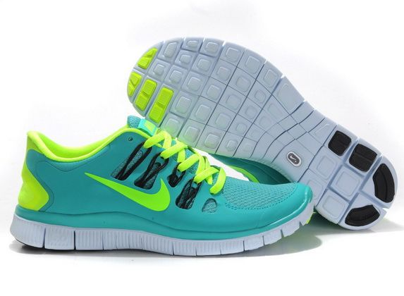 super popular 1525c c6f4a Nike Free 5.0 V2 Womens Green Apple Fluorescent Yellow