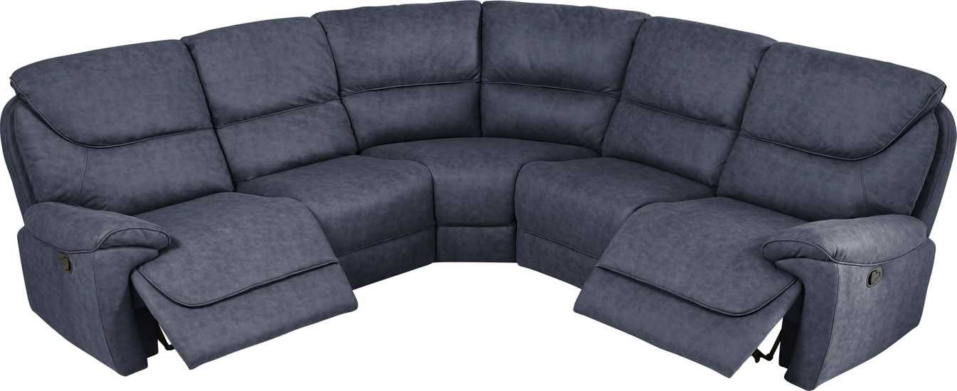 South Brook Blue 5 Pc Reclining Sectional Rooms To Go Reclining Sectional Sectional Sofa Sectional Couch
