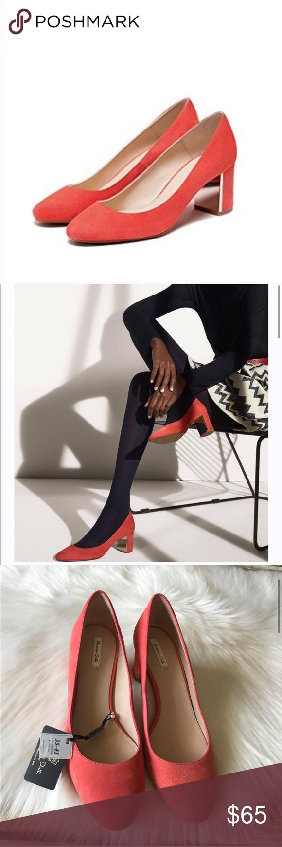 New Massino Dutti Heels Shoes Chunky Heel