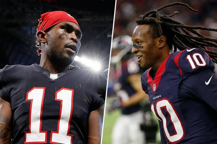 Who Would You Trust To Catch A Baby Julio Jones Or Deandre Hopkins With Images Deandre Hopkins Julio Jones Nelson Agholor
