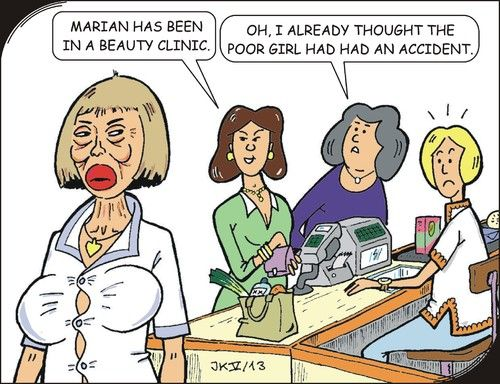 Funny Botox Cartoon