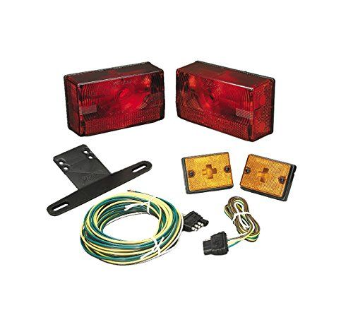 Wesbar 417515 Submersible Trailer Light Kit with 20' Wire ... on trailer generator, trailer brakes, trailer mounting brackets, trailer plugs, trailer fuses, trailer hitch harness,