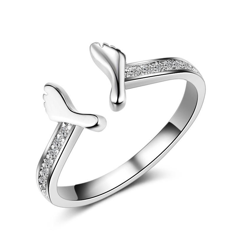 Cutesmile Fashion Jewelry 925 Sterling Silver CZ Crystal Square Rings Wedding Rings for Women 9