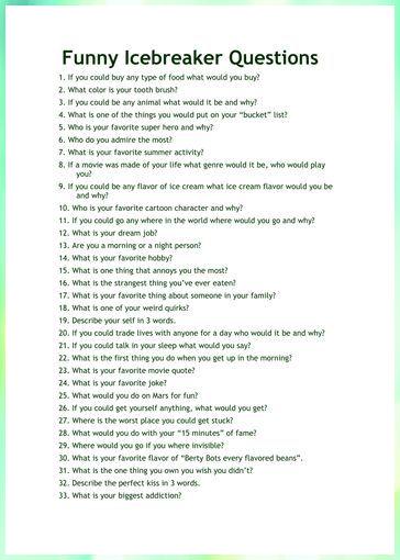 201 lustige Fragen zum Kennenlernen