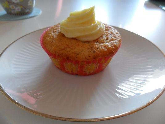 Orangen-Mandel-Cupcakes