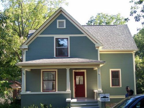 Exterior paint color schemes gray exterior paints color - Good color combinations for house exterior ...