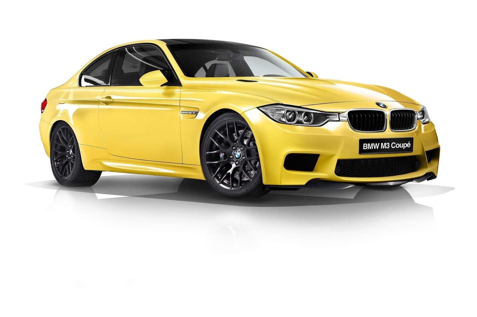 2014 Bmw M3 F80 Side Front View Yellow Yellowbmw 2014bmw
