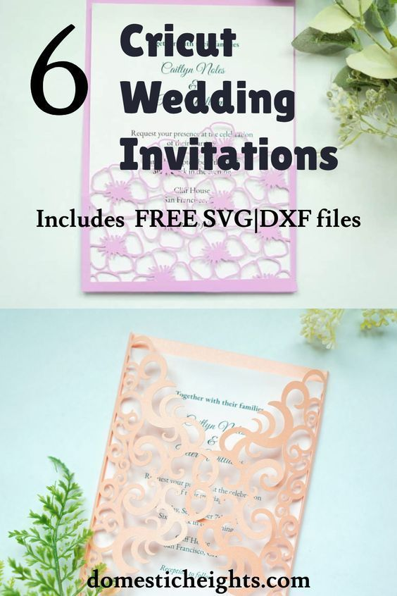 6 Free Cricut Wedding Invitations SVG Templates - DOMESTIC HEIGHTS