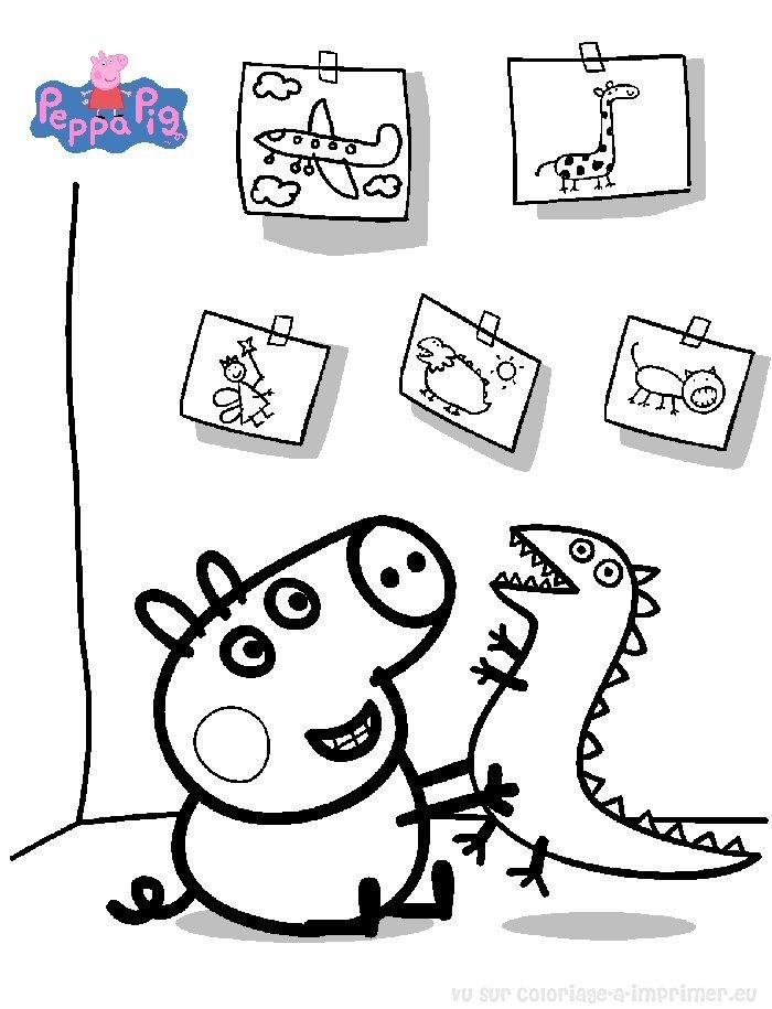 Souvent Coloriage Peppa Pig à colorier - Dessin à imprimer | activité  WU29
