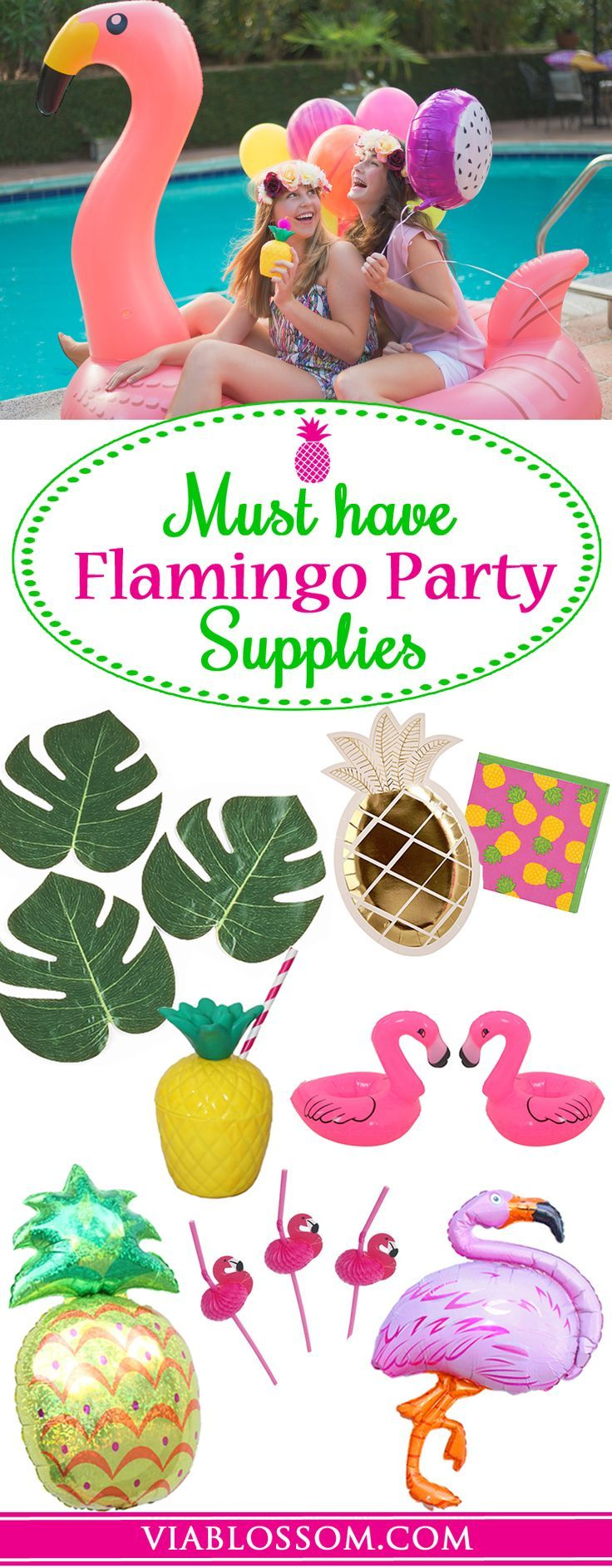 You Don't want to miss our Top Flamingo decorations from fun Summer Party!!!  If you are planning a Flamingo Party, a Pineapple Party, or a MoanaParty, or a Hawaiian Luau, then you've come to the right place!!