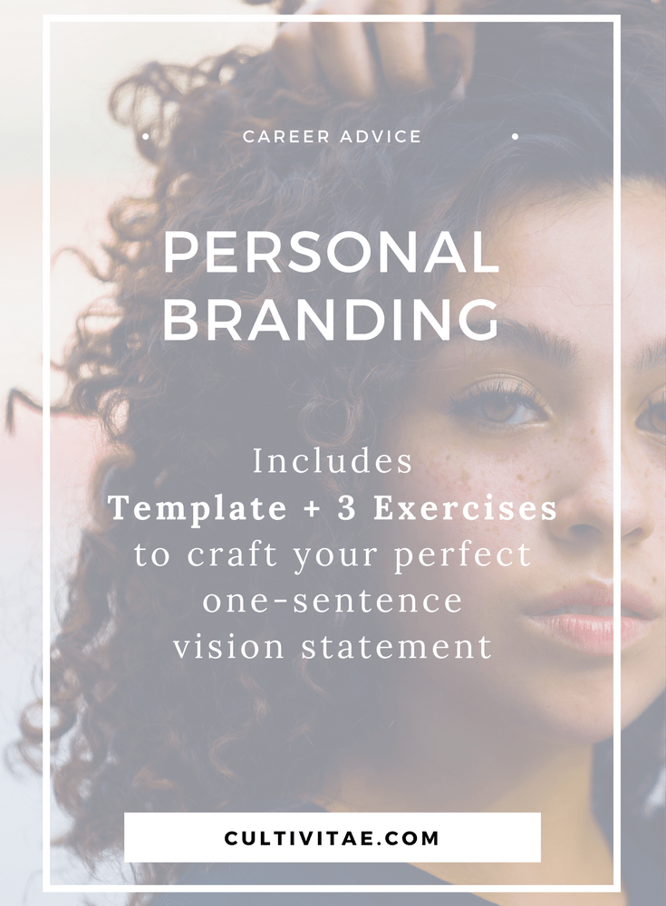 Personal Brand Example What I Your One Sentence Vision Statement Examples