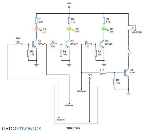 Super Water Level Indicator Circuit Arduino Electronics Components Wiring Cloud Hisonuggs Outletorg