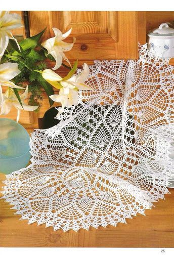 Crochet Knitting Handicraft: table runner   crochet doilies   Pinterest