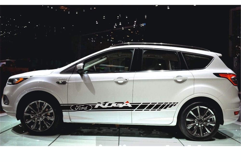 Ford Kuga 2x Racing Stripes Graphics Vinyl Body Decal Sticker Logo