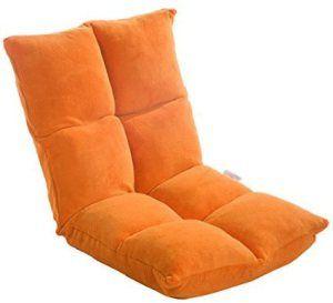 Camping Chair RCO Orange Folding Chair Beach Chair Adjustable Backrest Pillows