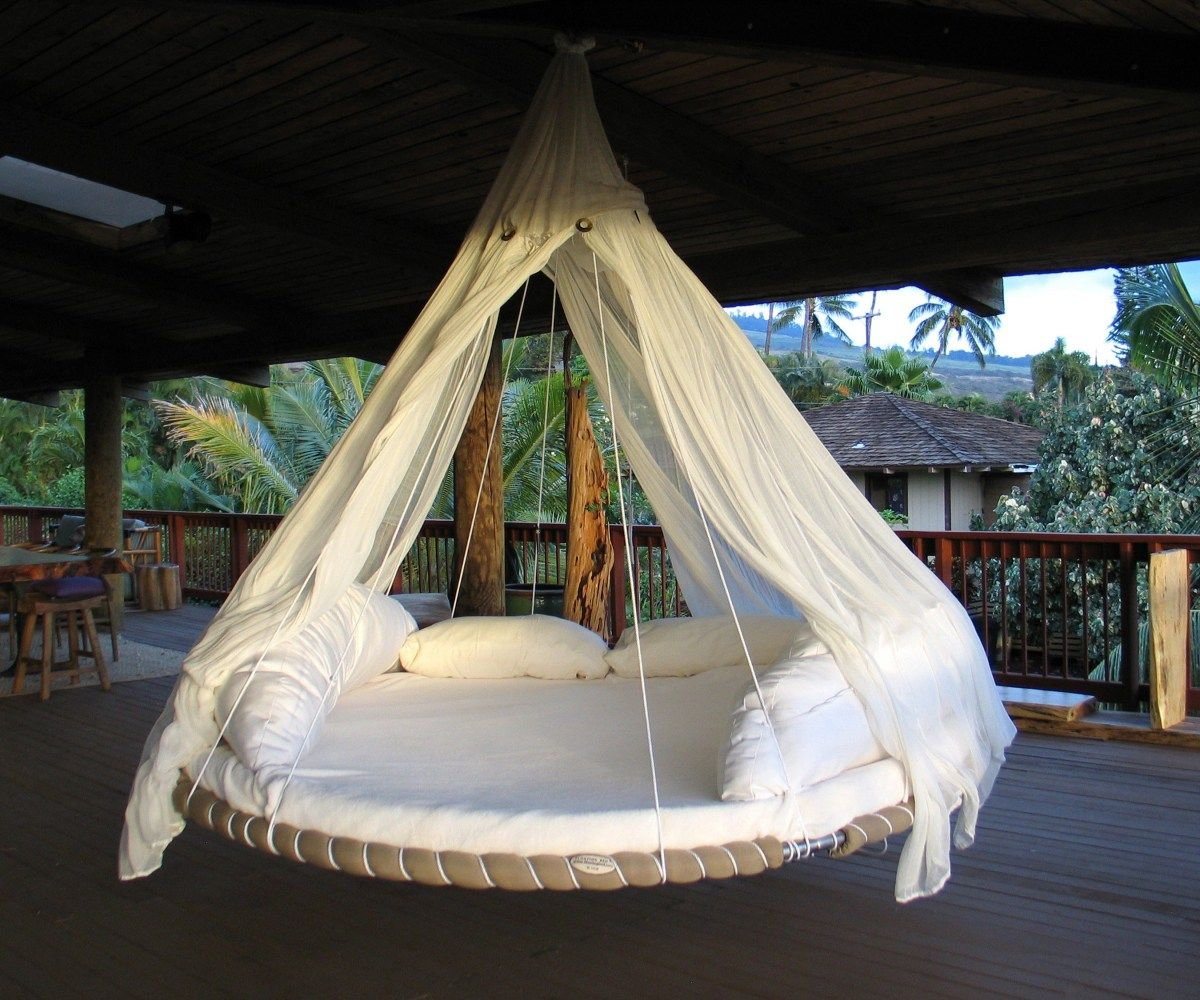 Captivating Easy Diy Hanging Daybed Hanging Circle Bed Home Design Outdoor Beds Recycled Trampoline Outdoor Bed
