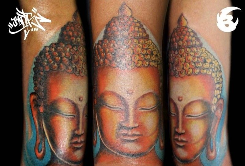 Nice Looking Buddha Tattoo Tattoo Design By Artist 21 ...