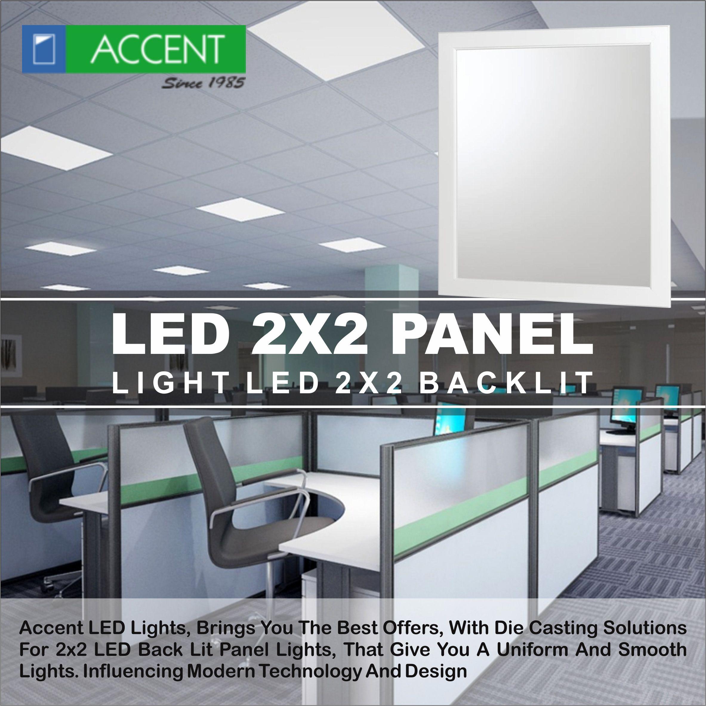 Ultra modern designed architectural LED 2x2 panel lights