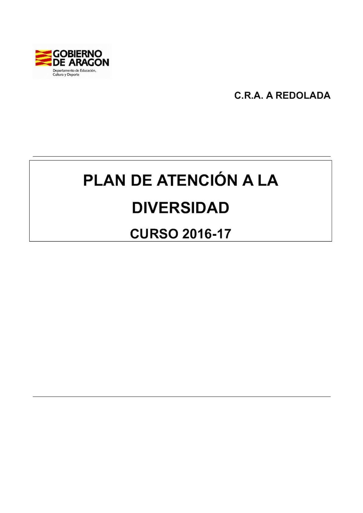 C.R.A. A REDOLADA PLAN DE ATENCIÓN A LA DIVERSIDAD CURSO 2016-17 ...