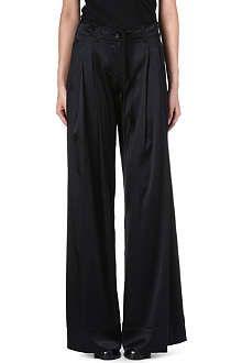 ANN DEMEULEMEESTER Wide-leg silk-blend trousers