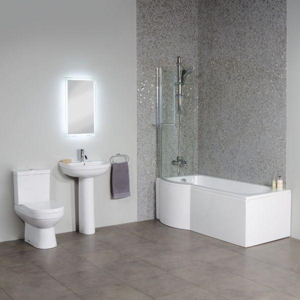 White Tile In Bathroom white mosaic tile bathroom - aralsa