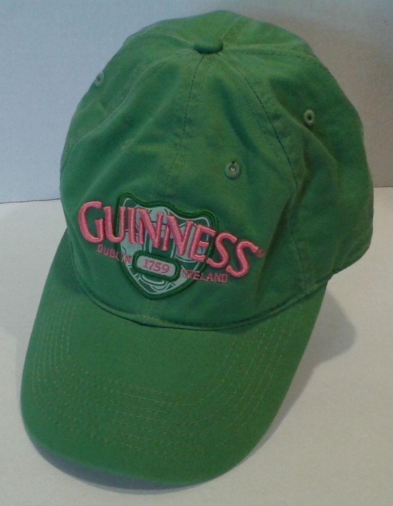 Guinness Women s GREEN PINK Baseball Cap Hat DUBLIN 1759 IRELAND Adjustable   Guinness  BaseballCap fbe309314d0c