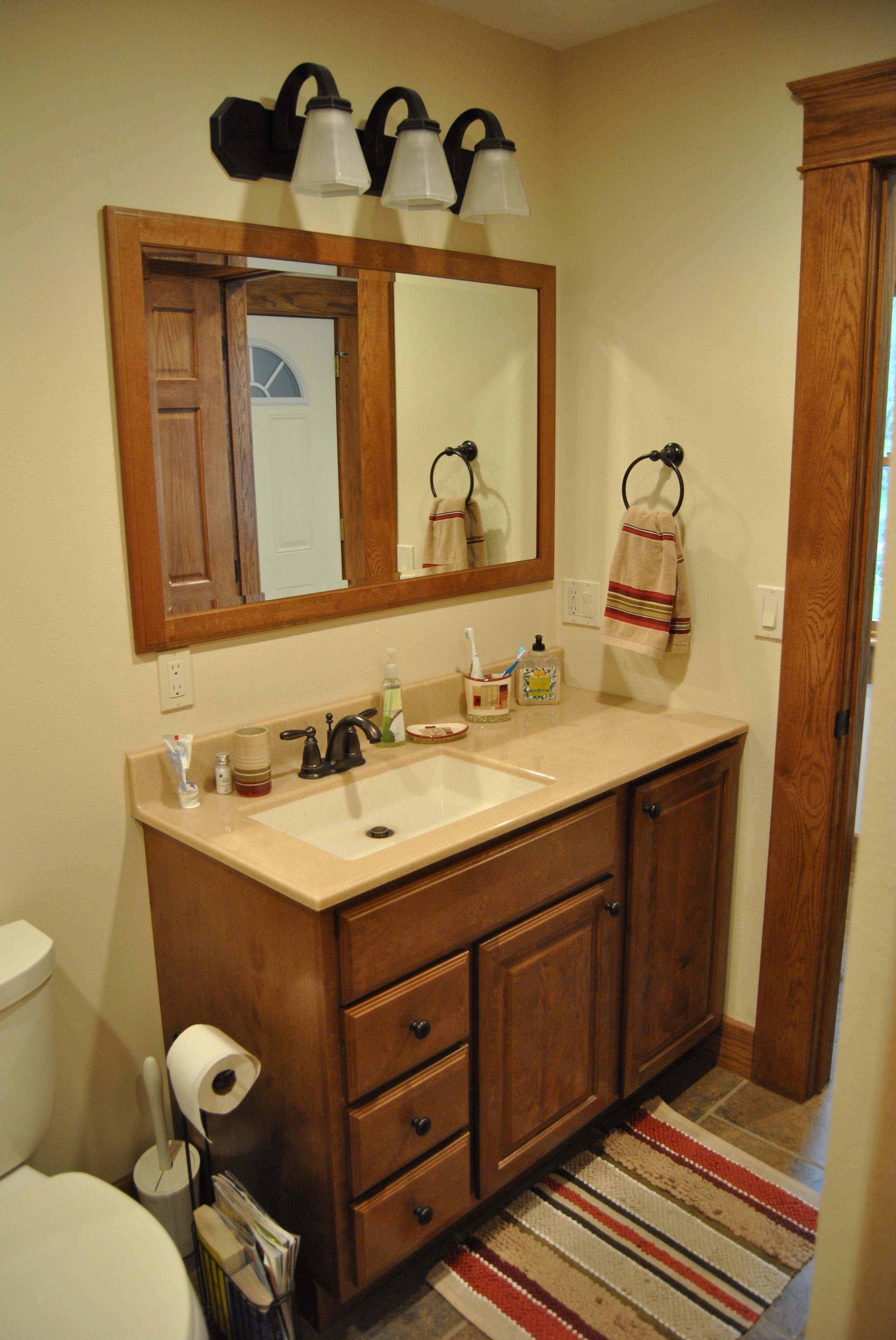 Bertch Bath Cabinets In Birch With Quebec Door Style And