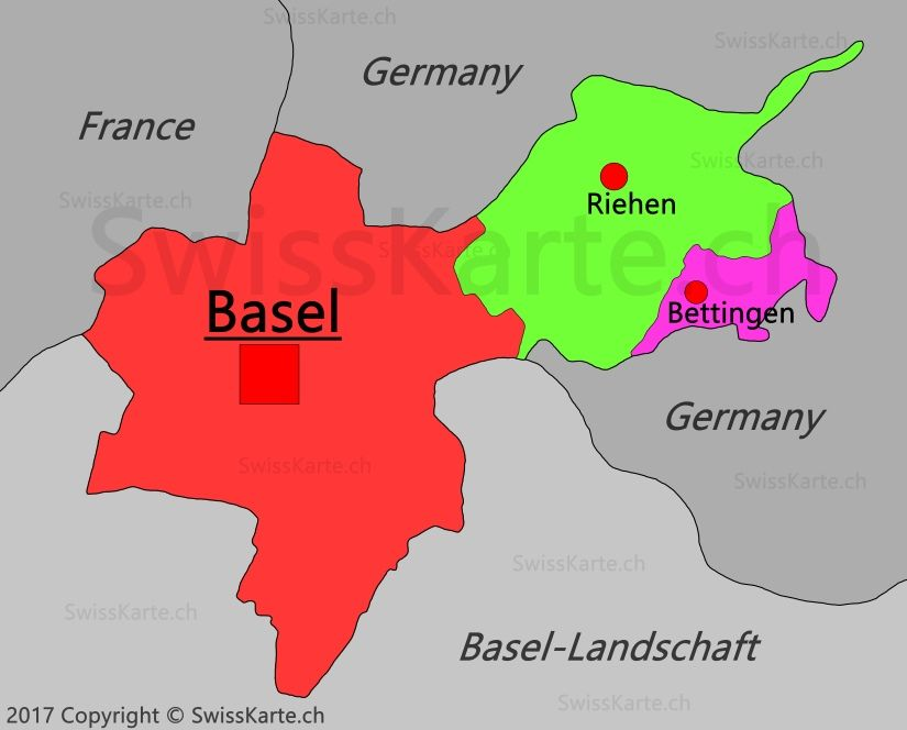 Map Of Basel Stadt Basel Map Canton