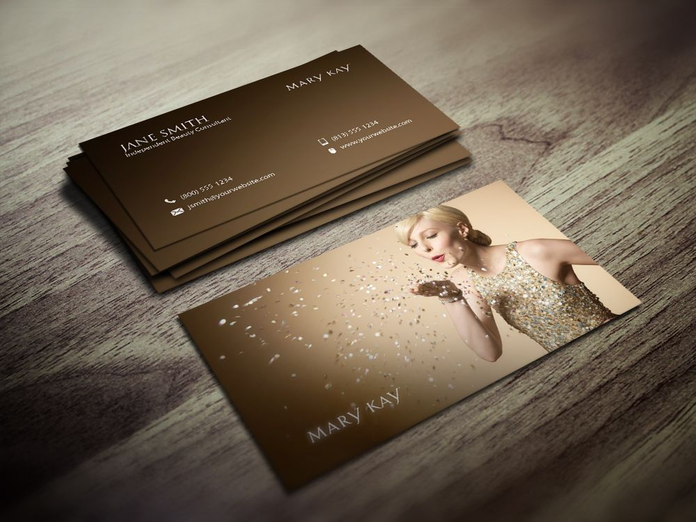 Elegant, classy business card design for the Mary Kay consultant ...