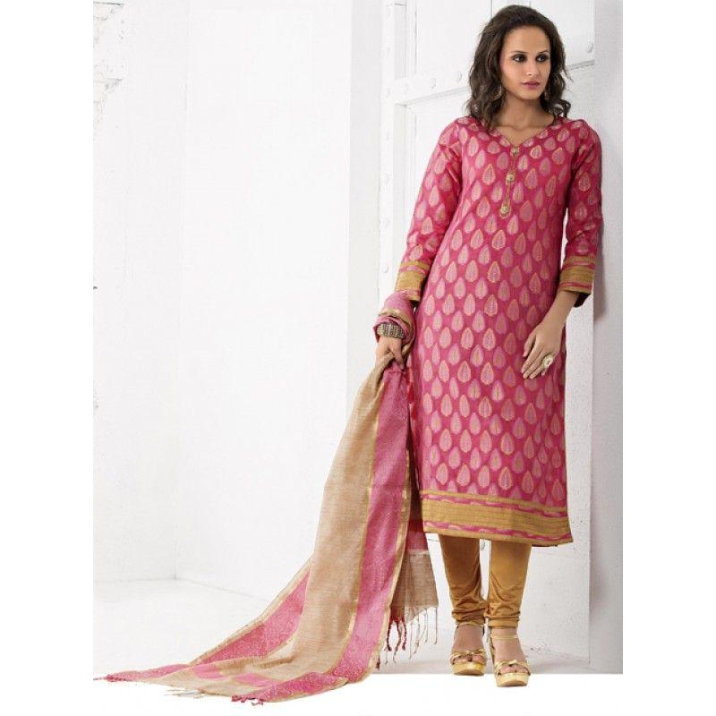 Ethnic Wear Readymade Pink Salwar Suit - 79888
