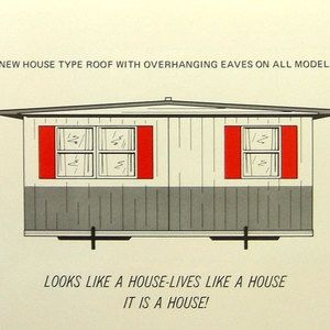 1960's - 1970's Corsicana double-wide mobile home brochure ... on