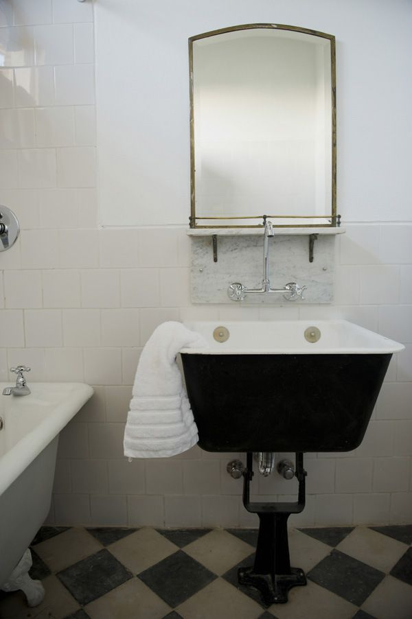aaron hojmans casa zinc - Utility Sink Backsplash