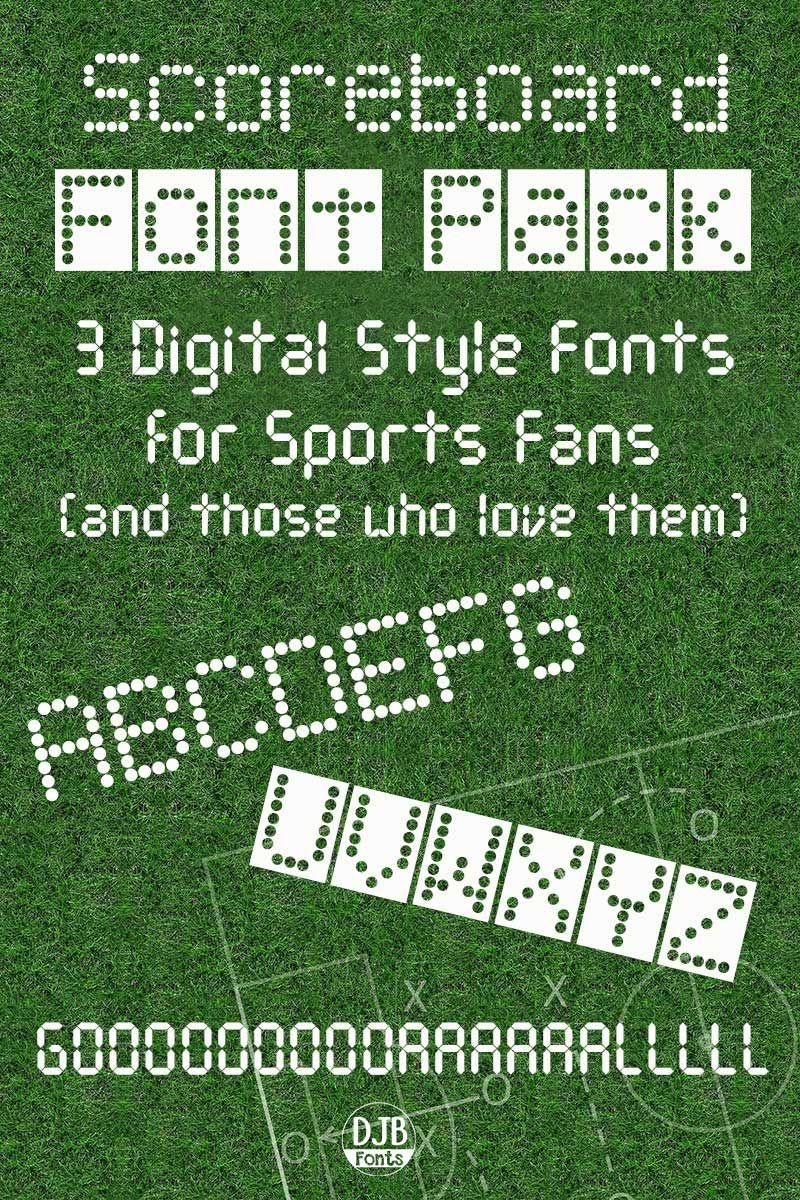 Download Scoreboard Font Pack | Font packs, Font setting, Fonts