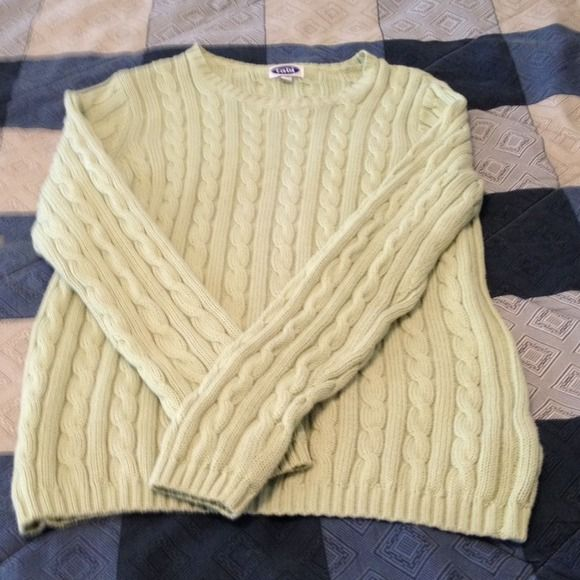 Very nice green TABI 100% cotton sweater size S/P | Pretty lights ...